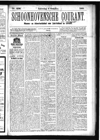 Schoonhovensche Courant 1900-10-06