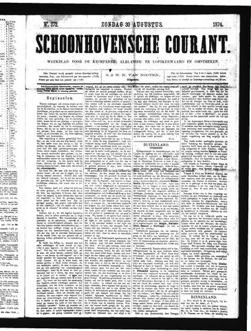 Schoonhovensche Courant 1874-08-30