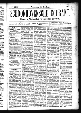 Schoonhovensche Courant 1902-10-15