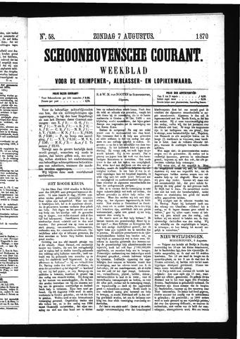 Schoonhovensche Courant 1870-08-07