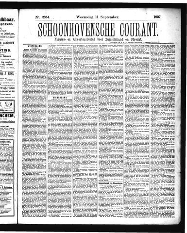 Schoonhovensche Courant 1907-09-11
