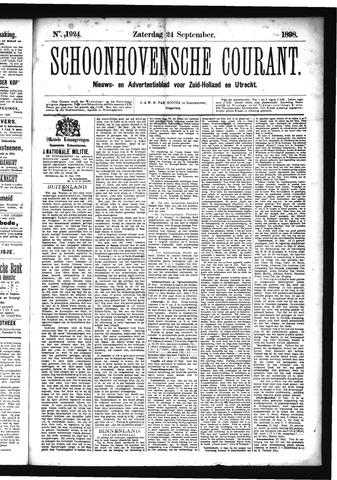Schoonhovensche Courant 1898-09-24