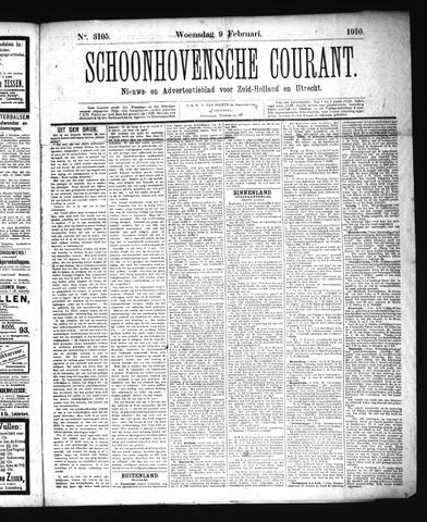 Schoonhovensche Courant 1910-02-09