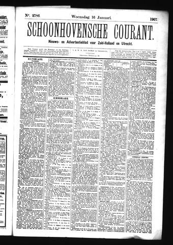 Schoonhovensche Courant 1907-01-16