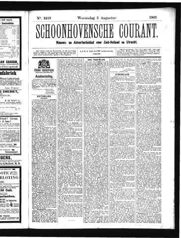 Schoonhovensche Courant 1903-08-05