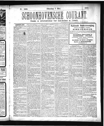 Schoonhovensche Courant 1918-05-07