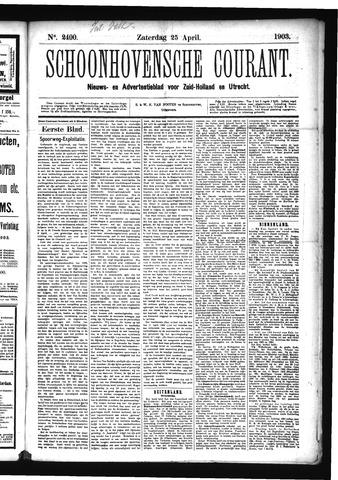 Schoonhovensche Courant 1903-04-25