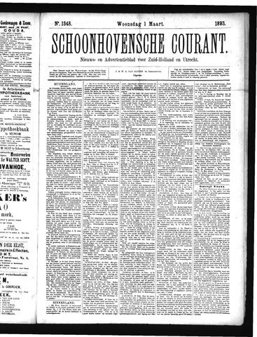 Schoonhovensche Courant 1893-03-01