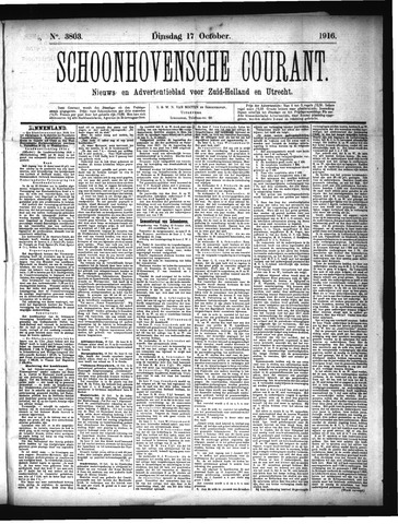 Schoonhovensche Courant 1916-10-17