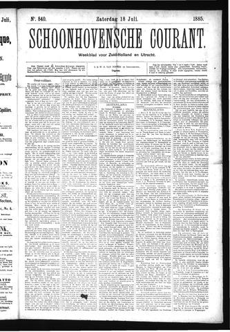 Schoonhovensche Courant 1885-07-18