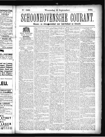 Schoonhovensche Courant 1894-09-19
