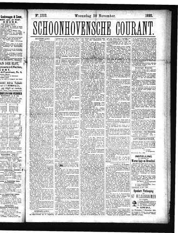 Schoonhovensche Courant 1892-11-30