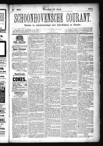 Schoonhovensche Courant 1915-06-22