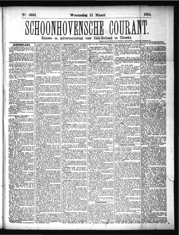Schoonhovensche Courant 1914-03-11