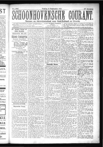 Schoonhovensche Courant 1922-09-22