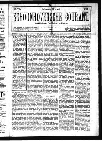 Schoonhovensche Courant 1884-06-28
