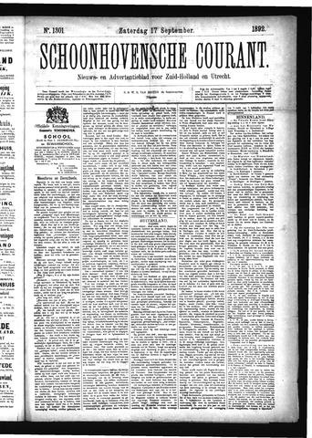 Schoonhovensche Courant 1892-09-17