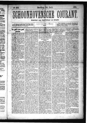Schoonhovensche Courant 1881-07-24