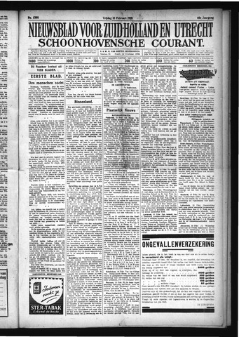 Schoonhovensche Courant 1928-02-10