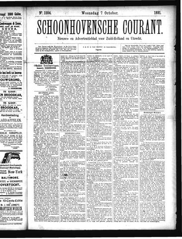 Schoonhovensche Courant 1891-10-07