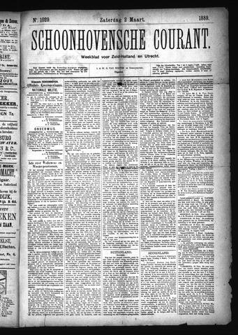 Schoonhovensche Courant 1889-03-02