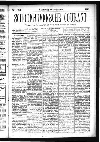 Schoonhovensche Courant 1920-08-11