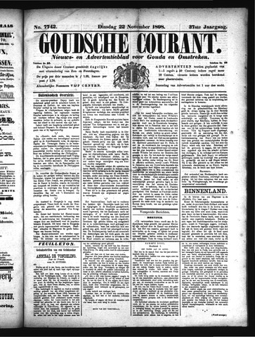 Goudsche Courant 1898-11-22