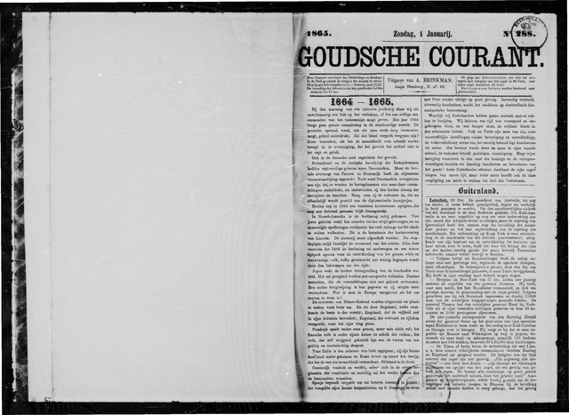 Goudsche Courant 1865