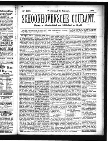 Schoonhovensche Courant 1899-01-25