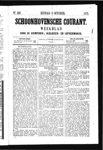 Schoonhovensche Courant 1871-10-08