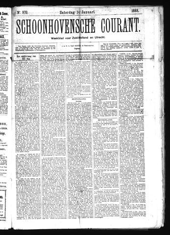 Schoonhovensche Courant 1888-01-14