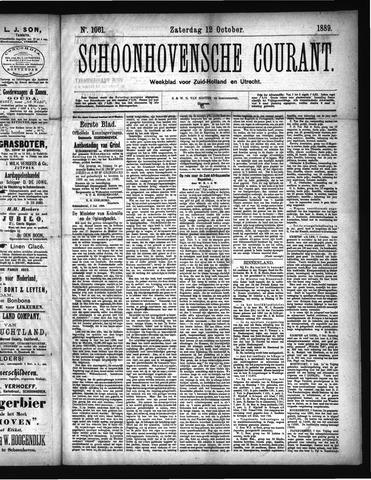 Schoonhovensche Courant 1889-10-12