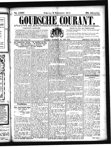 Goudsche Courant 1919-09-09
