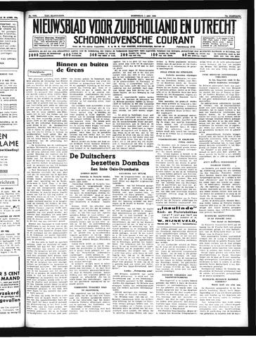 Schoonhovensche Courant 1940-05-01