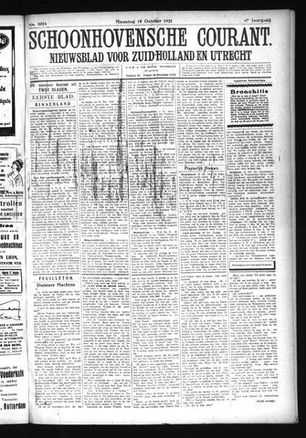Schoonhovensche Courant 1925-10-19