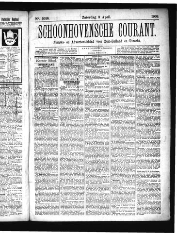 Schoonhovensche Courant 1909-04-03