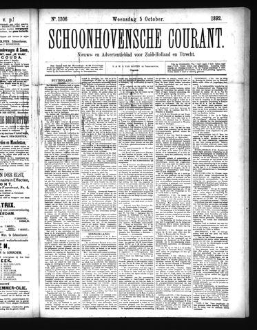 Schoonhovensche Courant 1892-10-05