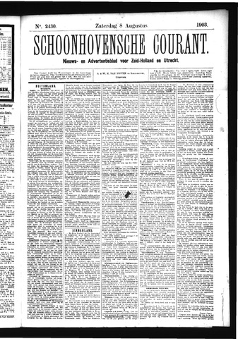 Schoonhovensche Courant 1903-08-08