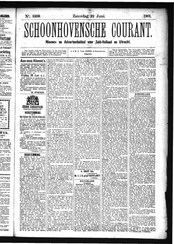 Schoonhovensche Courant 1901-06-22