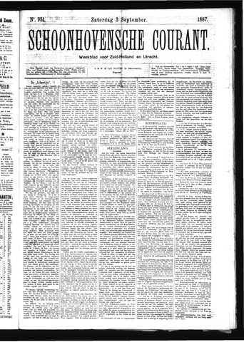 Schoonhovensche Courant 1887-09-03