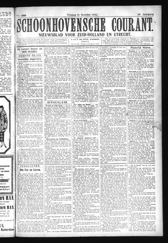 Schoonhovensche Courant 1924-10-31