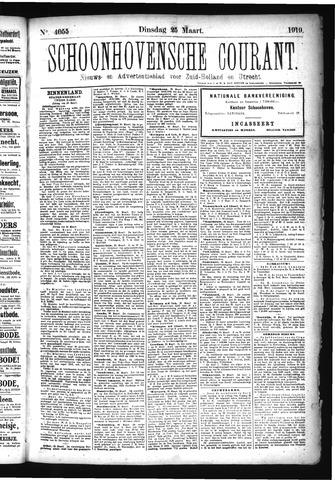 Schoonhovensche Courant 1919-03-25