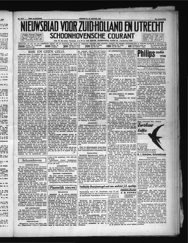 Schoonhovensche Courant 1938-01-19