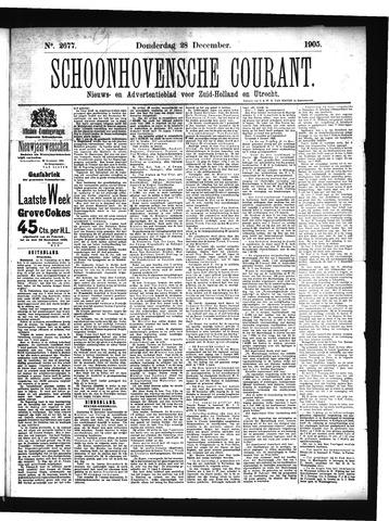 Schoonhovensche Courant 1905-12-28