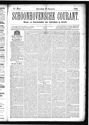 Schoonhovensche Courant 1895-01-19