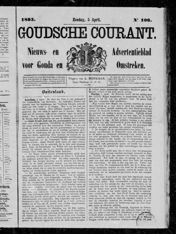 Goudsche Courant 1863-04-05
