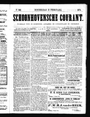 Schoonhovensche Courant 1874-02-12