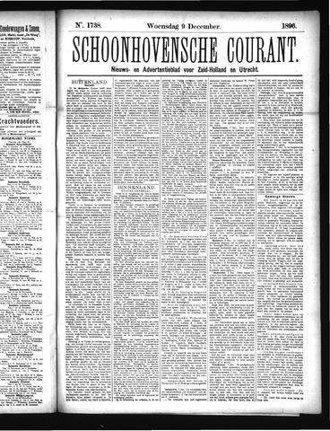 Schoonhovensche Courant 1896-12-09