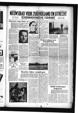 Schoonhovensche Courant 1953-03-09