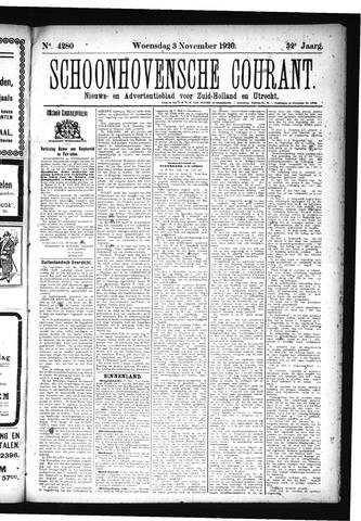 Schoonhovensche Courant 1920-11-03